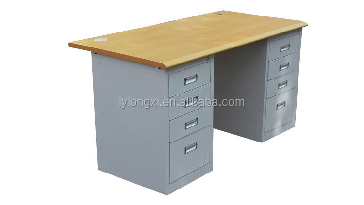 new arrival executive office table design/modern office desk with 8drawers table