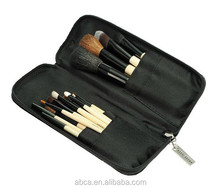 15pcs cosmetic brush set with zipper pouch