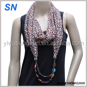 fashion chiffon jewelry scarf