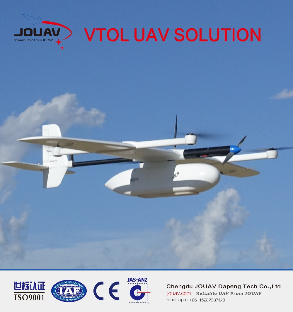 RTK/PPK embedded VTOL fixed wing UAV