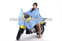 women motorcycle/electric vehicle/bike durable polyester raincoat