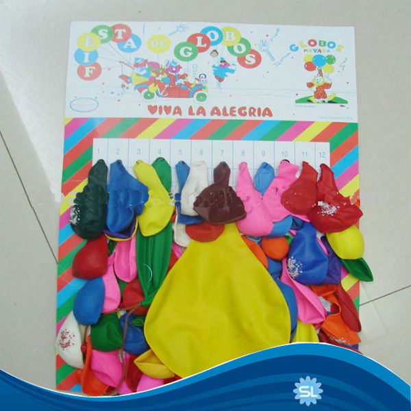 Hot Sale Cheaper Price Card Packing Balloon Best Export to Africa and Middle East Market