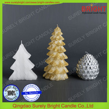 Pure Paraffin Wax Christmas Tree Shaped Decorative Candles
