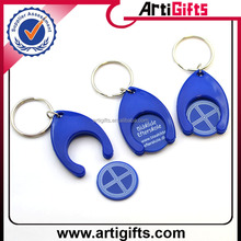 Cheap promotional plastic keyring coin