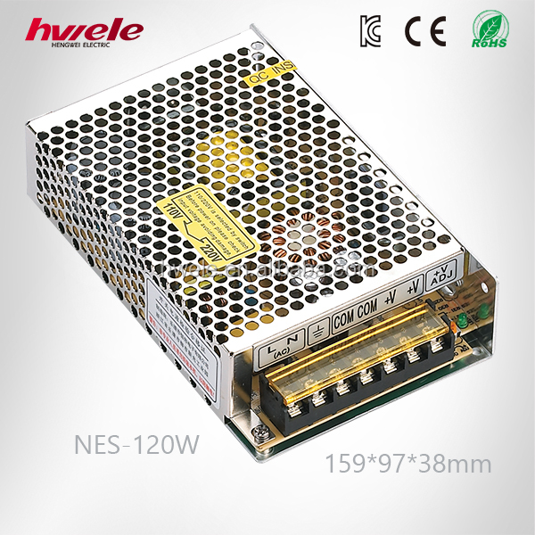 NES-120W Enclosure Power Supply 12V 10A Ac to Dc Adapter Similar to Meanwell RS Series with CE ROHS CCC KC TUV Certification