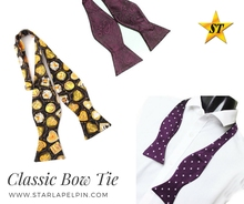 funny formal casual anime cosplay double sided self tie bow tie