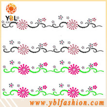 Rhinestone and pearl hotfix transfer for dress