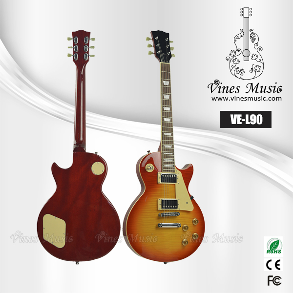 Electric guitar hot flame maple guitar neck elelctric guitar &new products for 2015 VE-L90