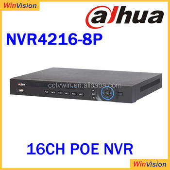 dahua nvr 4216-8p SUPPORT 2 STAT 8POE Ports ONVIF