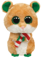 New Beanie Boos Big Eyed Stuffed Animals Candy Cane Christmas Hamster Mouse Kids Plush Toys For Children Gifts 15CM