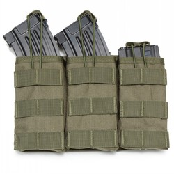 Army Green Open-Top Mag Pouch Tactical Organizer