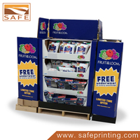 Cardboard Point of Sale Pocket Pillow Pallet Display Stand Unit