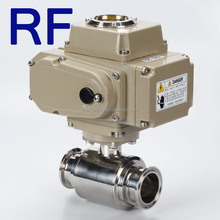 RF Electric actuator water gas oil pipeline type flange stainless steel galvanized ball valve