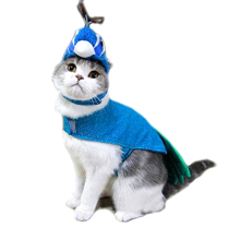 Party queen blue small pet cat funny peacock animal wholesale halloween dog costumes for holiday