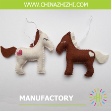 new style best seller felt horse in two colors with high quality wholesale china