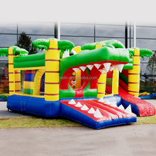 ZZPL Crocodile Inflatable Bouncy Castle with Slide, Outdoor Inflatable Animal Jumping castle for sale