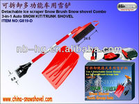 G819-D 3 in 1 car snow shovel , Auto ice scraper,brush group sets
