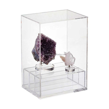 Small Modular Mineral Gemstone Clear Acrylic Premium Display Case