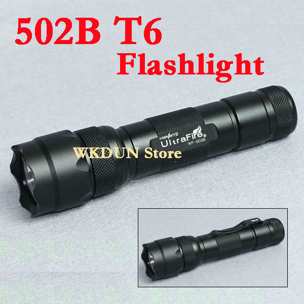 Hot sale Ultrafire 502b cree xml t6 led 5 modes police torch light