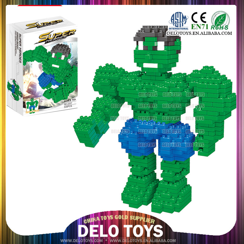 wholesale toy from china plastic building enlighten brick toys diamond blocks super heroes play set DE0260102