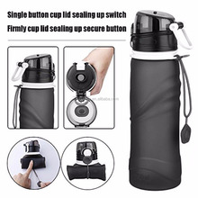 2017 Whosale Outdoor Travel Portable Foldable Silicone smart water bottle