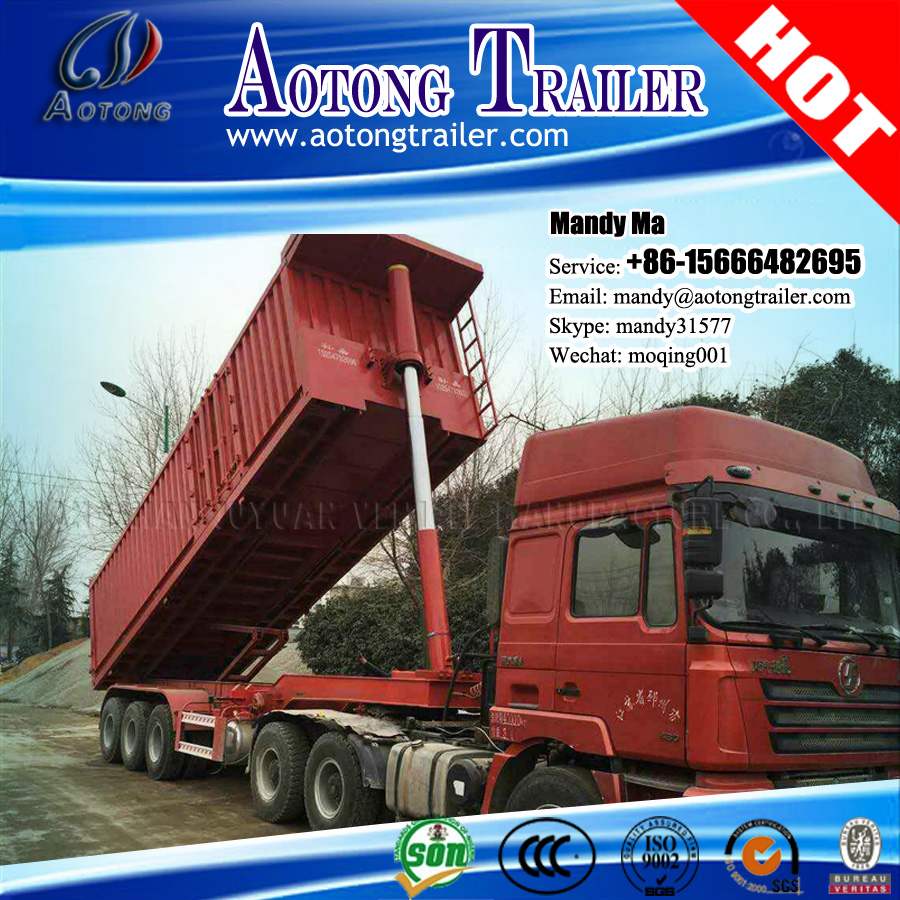 30T 45T gooseneck container tipper trailer 40ft container trailer