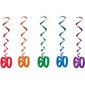 2015 Celebrate 60th Happy Birthday Party Swirls Hanging Decoration