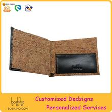 BOSHIHO cork leather fabric pu wallet