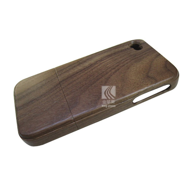 Black walnut phone hull real wood back cover two parts cell phone case for iphone 4