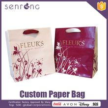 kraft paper bag with hole handle foil paper bag for chicken
