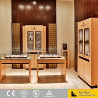 Modern brand watch shop display furniture wood jewelry display case and counter
