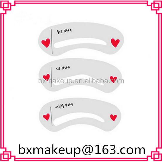 Eyebrow template reusable card eyebrow shaping stencils drawing card bxmakeup