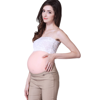 Silicone pregnant belly for woman false pregnancy experience,artificial stomach backside adhesive