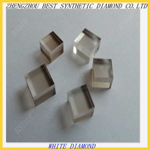 High quality low price White HPHT Rough Crystal Synthetic Diamond/ CVD Diamond
