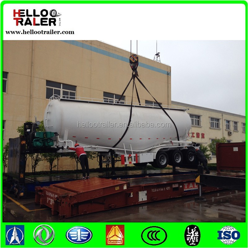 Diesel Engine Or Electrical Motor Tri Axle 50 Ton Cement Bulker Trailer