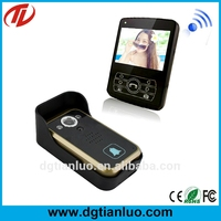 2.4ghz 3.5 inch TFT color screen 600m Transmission range digital wireless intercom video door phone