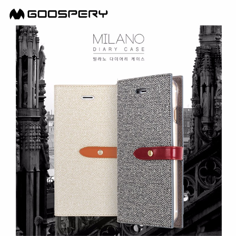 Goospery Milano Hot selling wallet flip leather mobile Phone case for Apple iPhone 5 5S
