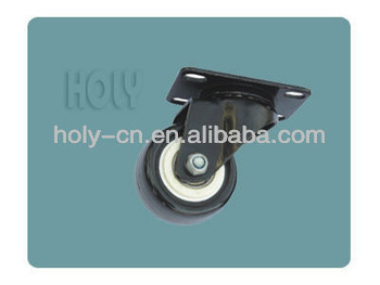 Black foot pulley with steel bracket and wheel for furniture--JL-T50