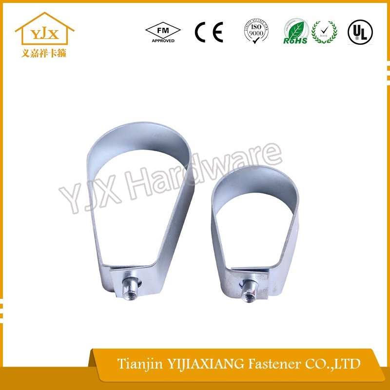 hinged pipe clamp pear shaped standard size GI band for metal connecting brackets for wood