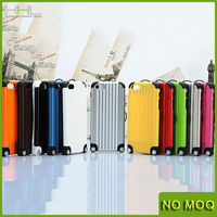 NEW Luxury Suitcase Luggage Shape Case Cover For iPhone 4/4s/5/5S + 10 Stickers
