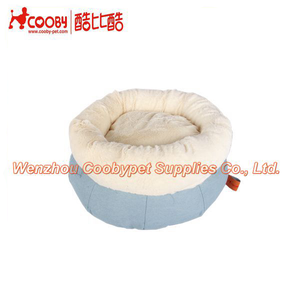 new products cute round pv fleece dog pet products, detachable cat cushion, canvas cozy sleeping cat bed