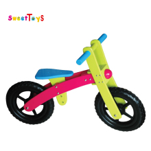 Brightly colored wooden kids bicycle, training toys for kids/children