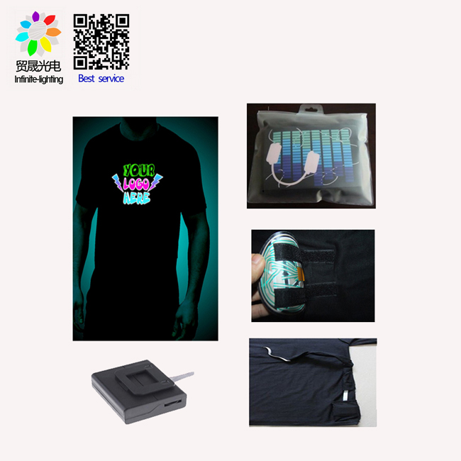 Best quality el light panel sound respond/flashing el light panel for t-shirt