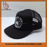 custom screen print snapback cap/trucker cap/flat brim mesh foam hat