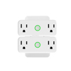 2 socket smart wifi plug home appliances dual wireless sockets voice control individually with ALEXA GOOGLE HOME IFTTT HOMKIT