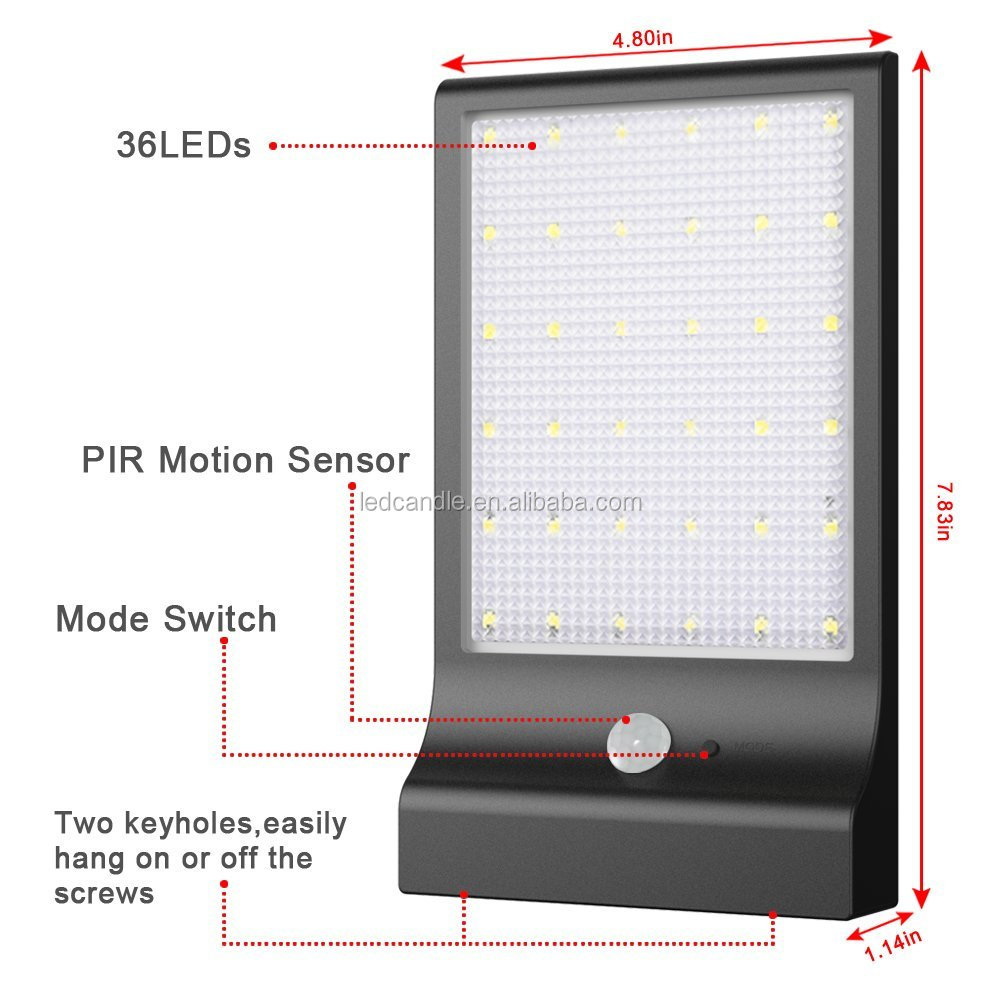 PIR sensor motion light bright outdoor garden led lights Solar Motion Activated Outdoor Wall Light