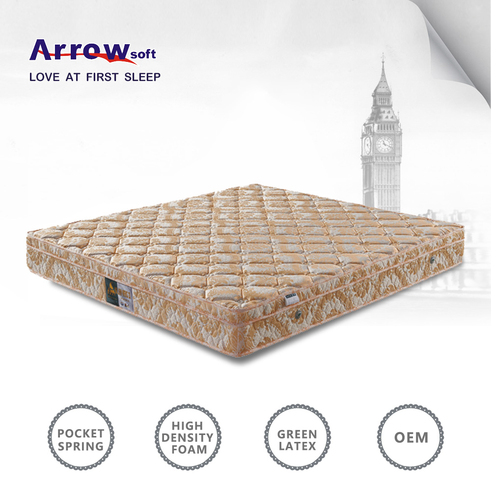 27cm square-shaped quilting soft latex box top mattress