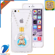 Soft tpu silicone lanyard perfume bottle monster hunt wuba ring case for iPhone 6 6s 6 plus 6s plus