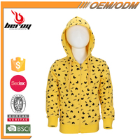 Wholesale Zipper Up Baby Kids Wearing Hoodie Sweatshirt for Boys Girls