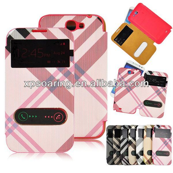 battery cover flip leather case for Samsung galaxy Note 2 N7100